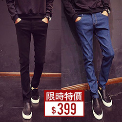 韓版超彈力厚磅牛仔褲