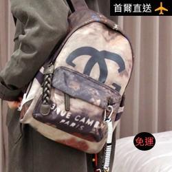 時尚渲染品牌印花鍊條背包