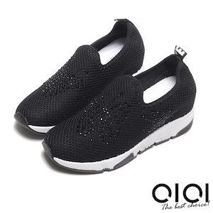 鑽飾針織內增高休閒鞋