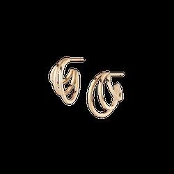 Deco Triple Gold Hoop Earrings