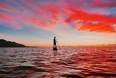 選擇日出場次,更能一覽都蘭山映在海上美景,極放鬆。