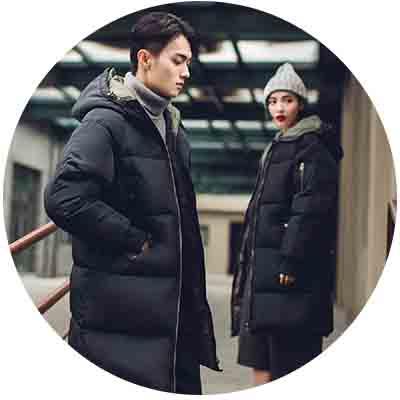 韓國製仿羽絨棉質中長版鋪棉外套