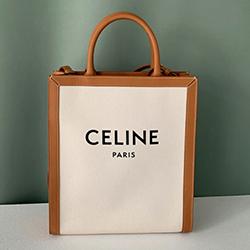■專櫃88折■ Celine 全新真品 Triomphe 帆布Logo小型