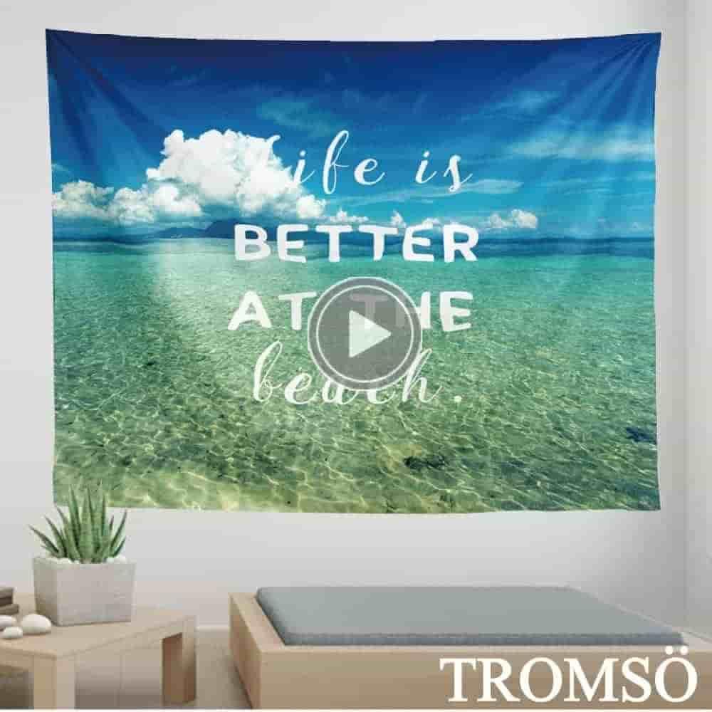 TROMSO 北歐時尚生活掛毯-D312藍海生活
