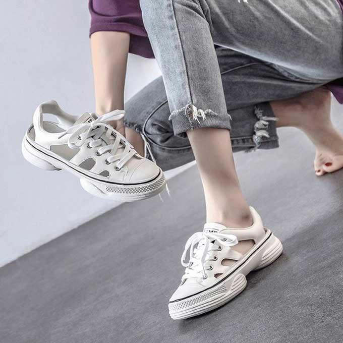 DANDT牛皮鏤空鞋