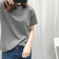 條紋圓領短袖T恤