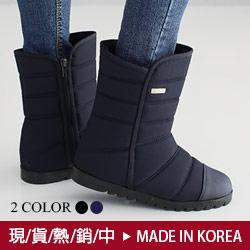 正韓防潑水V口雪靴