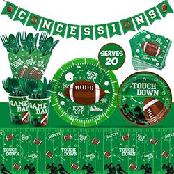 Nefelibata Football Super Bowl Party Supplies Set