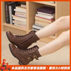 正韓釦環綁帶軍靴