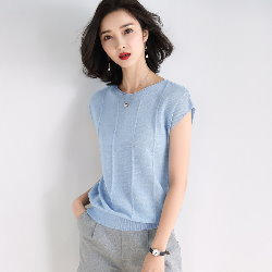4色S~XL親膚閃亮條紋針織衫