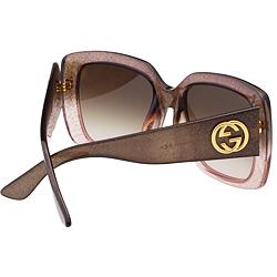 GUCCI-經典LOGO方框 太陽眼鏡(兩款/共4色)