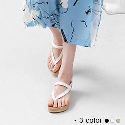 正韓製質感舒適顯瘦夾腳涼鞋