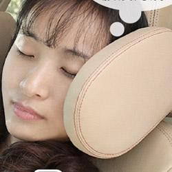 頂級皮革車用靠枕