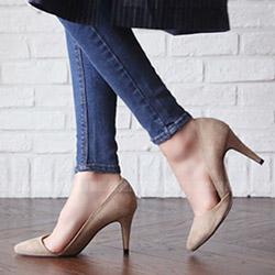 性感側空尖頭高跟鞋