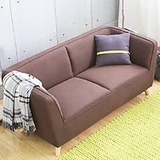 棉麻布風格雙人沙發