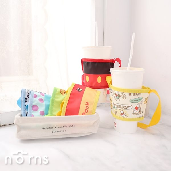 迪士尼兩用環保可調式手提杯套