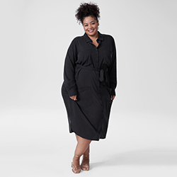 Michelle Cupro Shirt Dress
