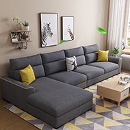 緹娜L型獨立筒布沙發