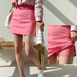實搭側開拉鍊短褲內裡小短裙