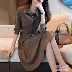 時髦收腰連身裙