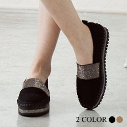韓國牛皮璀璨鑽包鞋