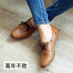 日系簡約牛津低跟鞋