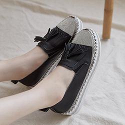 水鑽厚底懶人鞋