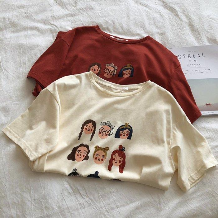 韓版卡通印花棉質短袖T恤
