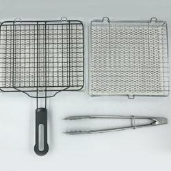 日式燒魚器(有手柄)+陶瓷烤網(無手柄)+夾