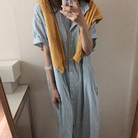 寬鬆條紋洋裝