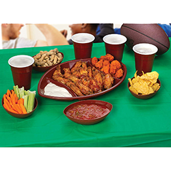 9 Piece Football Shape Game Day Serving Tray Set
