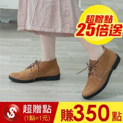真皮復古個性短靴
