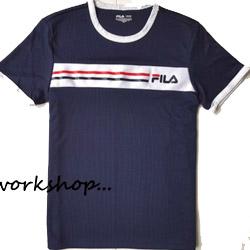 FILA拼接LOGO短袖T恤