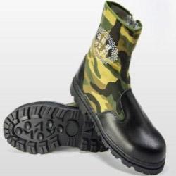 長筒拉鍊款-工作安全鞋-加鋼頭加鐵片-台灣製