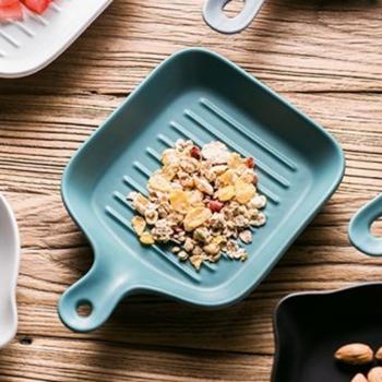 方形單柄陶瓷烤盤