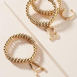 Monogram Beaded Bracelet