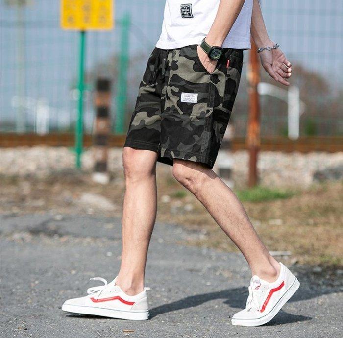 夏季迷彩短褲