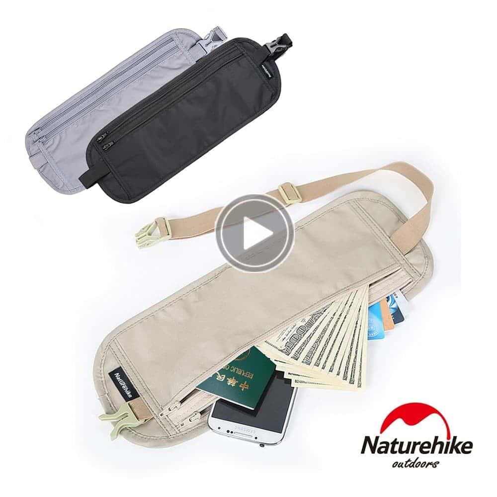 Naturehike 戶外旅行防盜貼身隱形腰包 防搶
