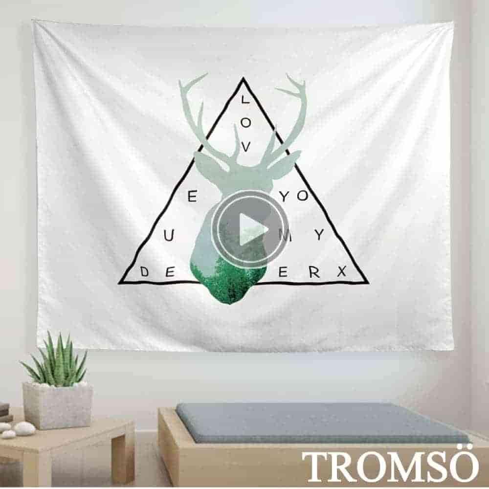 TROMSO 北歐時尚生活掛毯-D302北歐麋鹿
