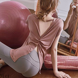 美背性感開叉運動罩衫【4色S~XL】