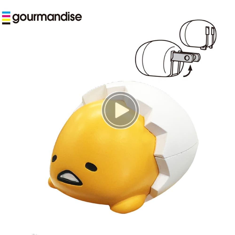 日本 蛋黃哥 立體造型 AC轉USB 充電器