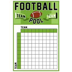 Football Big Game Betting Pool Squares Scoreboard