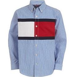 TH湯米國旗標誌襯衫青年款