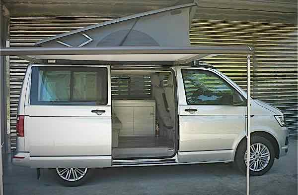 自售VW T6露營車 快拆拖車架
