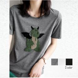 好減齡小恐龍短袖T恤