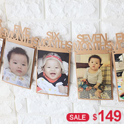 寶寶月份相框掛飾