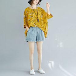 超舒適花卉寬鬆雪紡衫三色