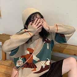圓領韓版針織衣