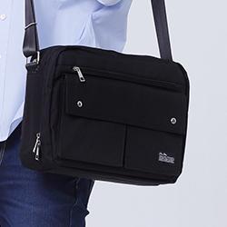 A4雙層側背包