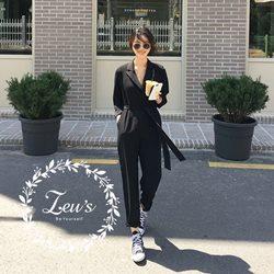 韓國時尚簡約休閒連身褲